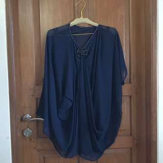 blouse navy blue with beats