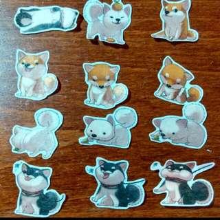 柴犬紙膠帶貼紙