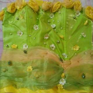 Preloved Gown (Green & Yellow)