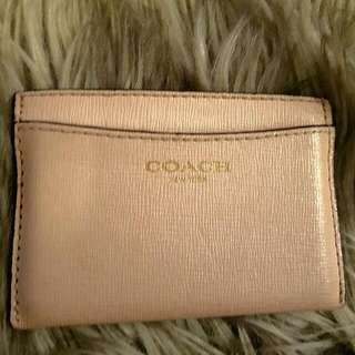 Pink Coach Credit Card Holder