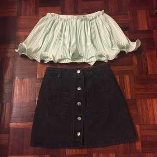 Top & Button Down Skirt