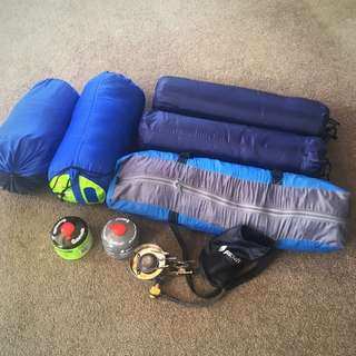 2 Man Tent With Porch, 2 Sleeping Bags, 2 Sleeping Mats, Gas Cooker And 2 Gas Canisters