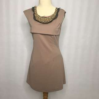 chocolate simple dress