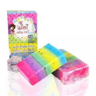 ( 含運 )泰國 OMO WHITE PLUS SOAP 繽紛彩虹皂100g