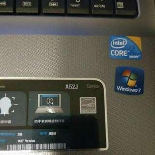 ASUS A52J 15吋筆電。