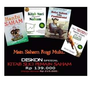 Promo 4 Buku Saham Hanya Seratus Ribu Karya Benni Sinaga
