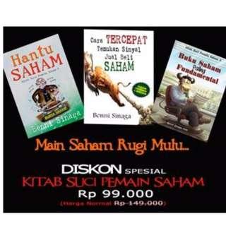 Promo Bundling 3 Buku Saham Benni Sinaga-Main Saham Kalah Mulu?