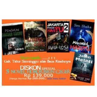 Promo Bundling 5 Buku Novel Horor bikin merinding terbaru gerrmedia