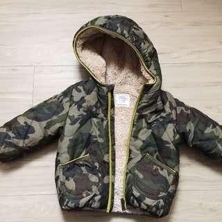 歐洲購入ZARA迷彩保暖外套