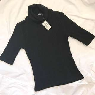 Dotti Ribbed Turtle Neck Top