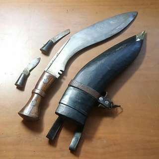 Kukri Knife from the Malayan Confrontation In Borneo, Dated 1958