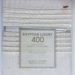 400 Three Count Egyptian Cotton Quilt Cover