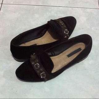 Zara Original Suede Loafers