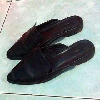 Black Slip On Loafers