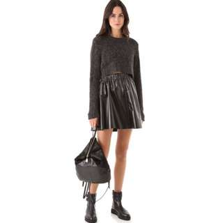 Cheap Monday Faux Leather Skirt