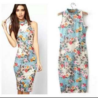 3d Floral Miky cotton dress