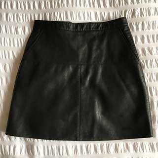 Zara Leather Skirt Size Small