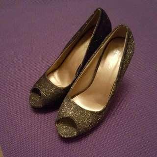 Size 8 Glitter Dark Blue Heels