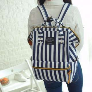 Dual Purpose Stripes Travel Bag