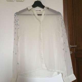 Monstore White Anchor Shirt