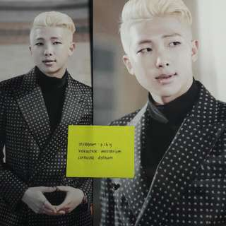 BTS On Stage Epilogue Postcard (Rap Monster)