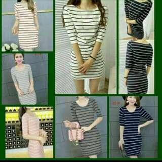 Stripe Dress B/W