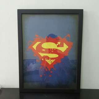 Superman Poster In Thick Frame
