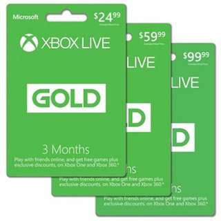 Xbox Live Gold Subscription Codes