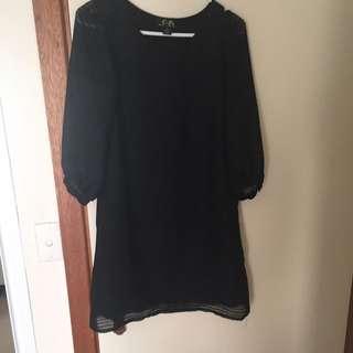 Black Retro Mini-dress