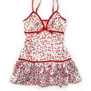 日系性感緞面式可愛睡衣-S597