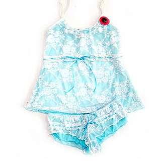 日系性感薄紗式可愛睡衣-S601