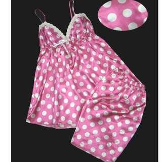 日系性感緞面成套可愛睡衣-S624