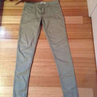 Khaki Coloured Jeans:Temt