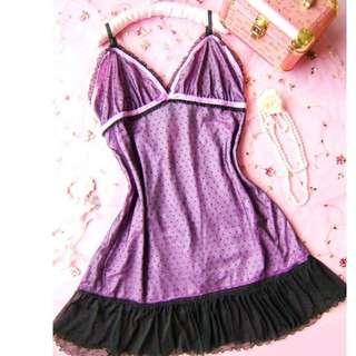 日系性感薄紗式可愛睡衣-S637