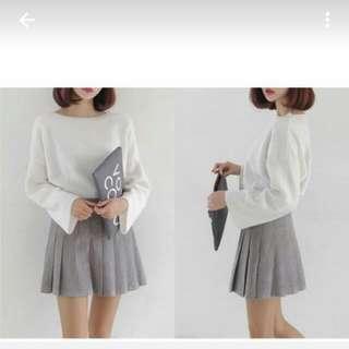 灰色百褶裙  麂皮  超美L偏小適合M