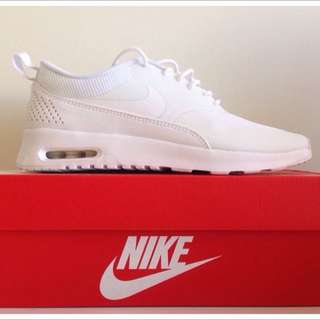 All White Nike Air Max Thea
