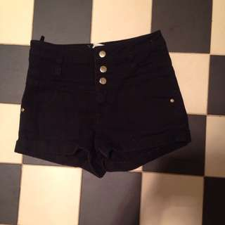 *HOLD* High Waisted Black Supré Shorts