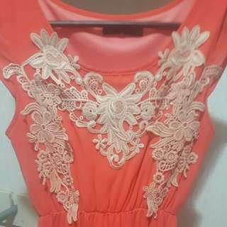 Peachy Colored Dress.