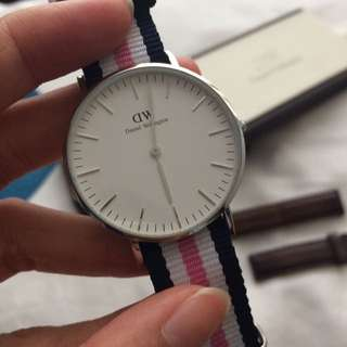 Authentic Daniel Wellington Silver NATO STRAP ONLY For Women