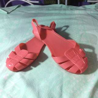Jelly Coral Pink Shoes Size 8