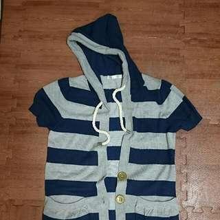 百貨專櫃T. parts針織條紋罩衫小外套