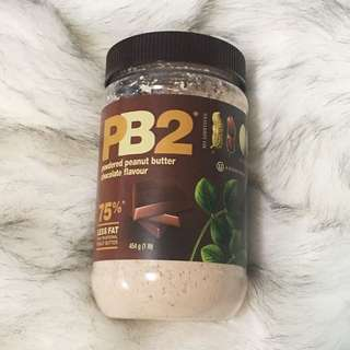 Powdered peanut butter chocolate flavour health food