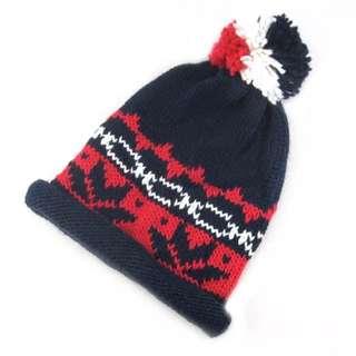 冬天雪季保暖針織毛球帽
