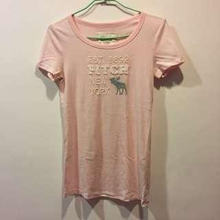 正品Abercrombie&Fitch🎀經典手縫logo短袖甜美短袖上衣