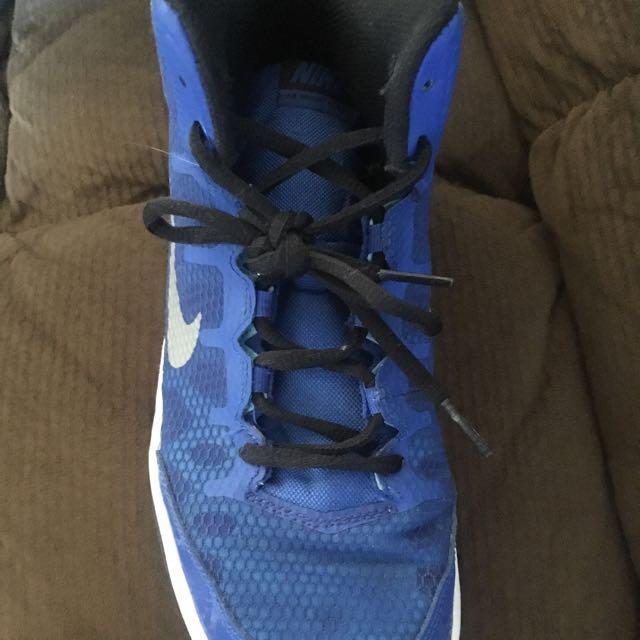 Blue Nike Basketball Kids Shoes