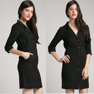 Berrybenka Coat Dress / Blazer Outer Hitam