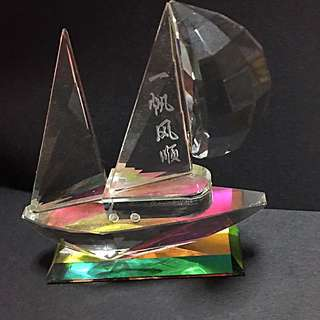 Glass Sculpture With Laser Engravings
