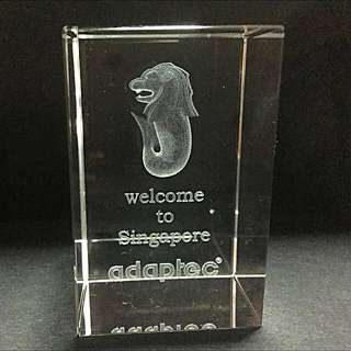 3D Glass Block With Laser Engravings