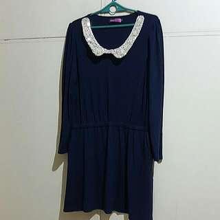 Longsleeves Dress Sequin Details