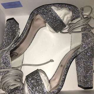 Glitter Wrap Heels-misguided